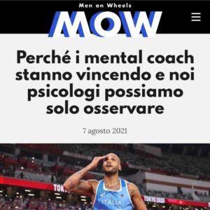 """Read more about the article """"Perché i mental coach stanno vincendo e noi psicologi possiamo solo osservare"""" – il mio articolo per MOW Magazine"""